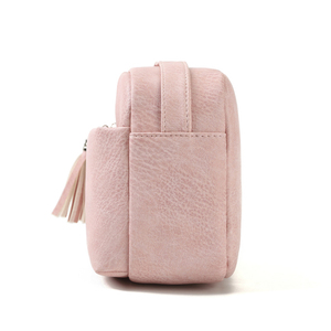 Image 4 - Qianxilu 2019 New Womens Small Shoulder Tassel Bags Messenger Bag Ladies PU Leather Handbag Purse Female Zipper Crossbody Bag