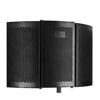Estúdio Microfone Escudo Isolamento Absorvedor de Som Gravação de Espuma Painel WIF66