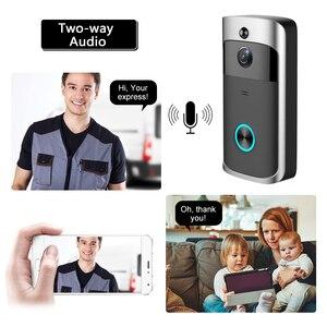 Image 4 - WIFI פעמון חכם IP וידאו אינטרקום וידאו דלת טלפון דלת פעמון מצלמה עבור דירות IR מעורר אבטחה אלחוטית מצלמה