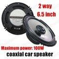 1 par de Alta calidad coaxial del altavoz del coche amplificador de audio de la motocicleta 6.5 pulgadas de 2 vías 2x100 W altavoz estéreo del coche de altavoces de audio azul