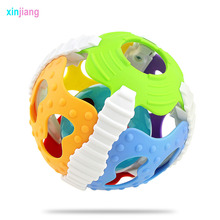 Baby Toys Baby Rattles Toys Soft Rubber Rattles With Musical & Flashing Ball Shaking Ball Educational Toys For Children }