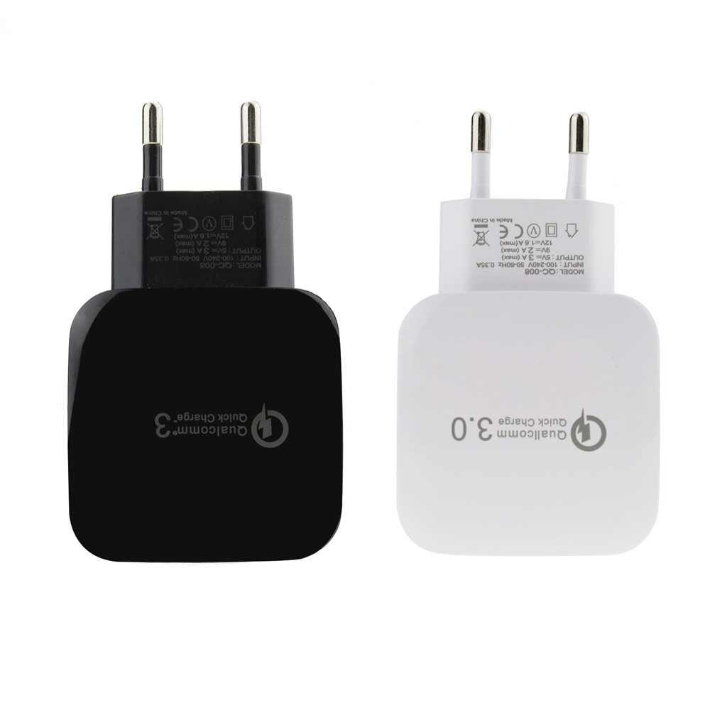 QC3.0 EU Lader of Type C Lader USB Voor Xiao mi black Shark, mi mi x 2 s, mi note 3 A1 5X mi 6X TELEFOON, redmi note 5, redmi s2