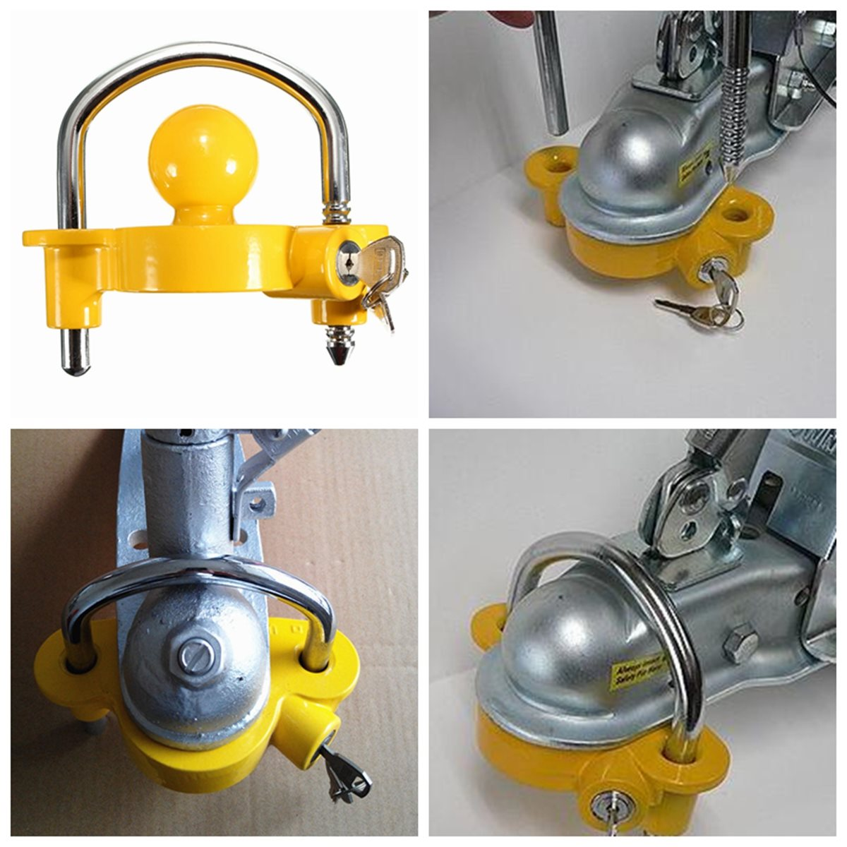 ball hitch lock. universal caravan trailer hitch tow steel 50mm ball lock coupling safe security(china) c