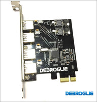 High Speed 4 Port USB 3.0 USB3.0 PCIE PCI Express Control Extended Card Adapter Panel for MAC PRO 3.1 5.1/OSX 10.8 10.14