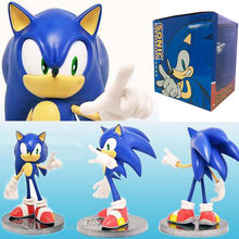 07d7379f59b 15cm Sonic the Hedgehog Ultrasound mouse Supersonic kid Action action  figure Toy Collection model Anime child kid electronic pet