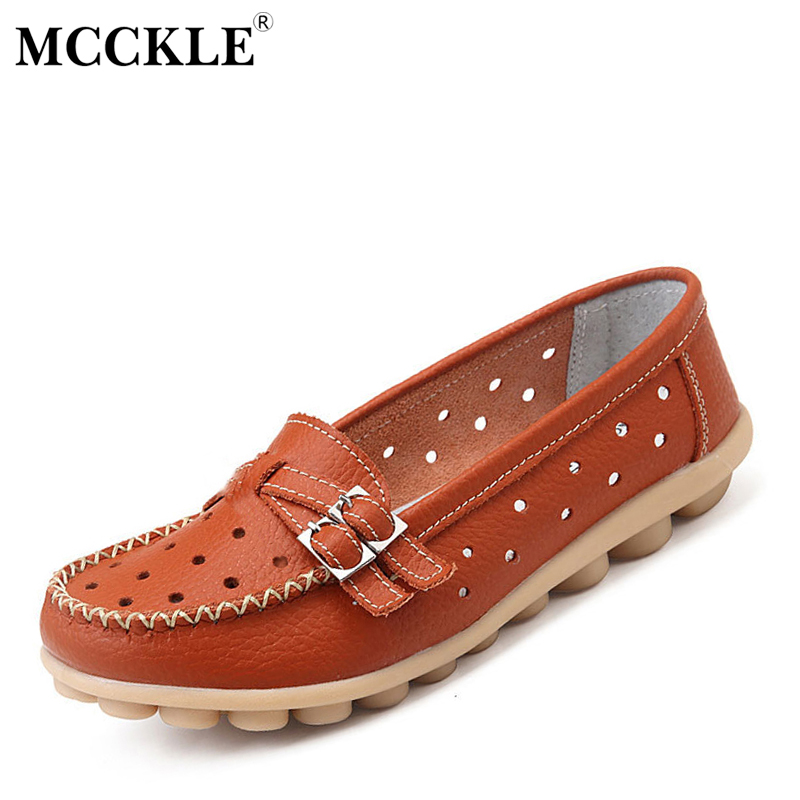 MCCKLE Women Shoes Woman Fashion 2017 Peas Cut-outs Casual Black Buckle Platform Loafers Flat Comfortable Slip-on Female Shoes mcckle 2017 new fashion woman shoes women s sandals black platform ankle wrap flat open toe casual comfortable summer
