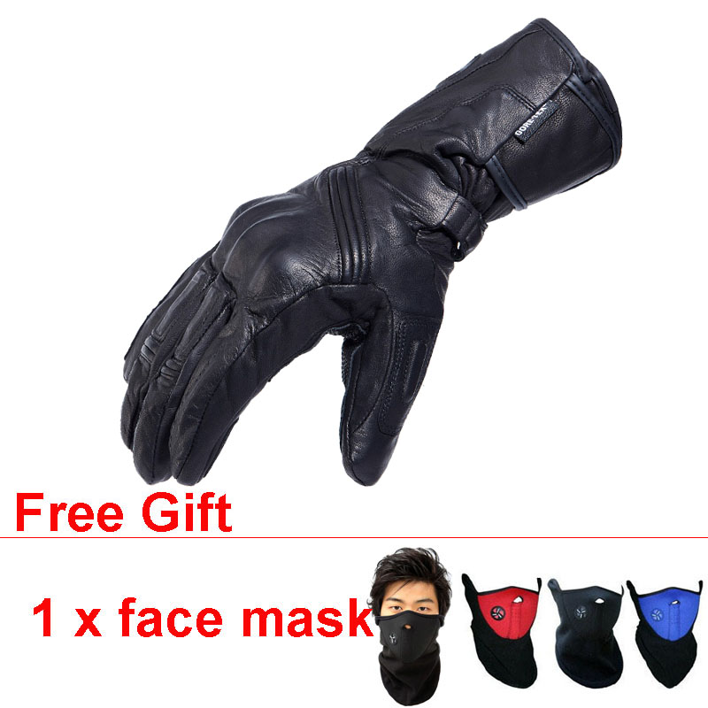 где купить Leather Gloves GORE-TEX Waterproof Touch Screen Warm Protect Fist Joint Luvas de Motociclista Guantes Moto Invierno Impermeable по лучшей цене