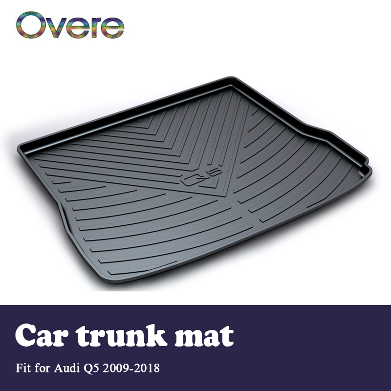 Overe 1Set Car Cargo rear trunk mat For Audi Q5 B8 B9 2009 2010 2011 2012 2013 2014 2015 2016 2017 2018 Waterproof Accessories