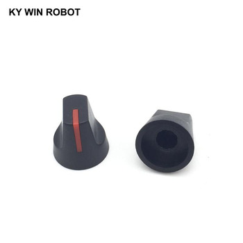 цена на Newest !! Hot Sale 10 Pcs 6mm Shaft Hole Dia Plastic Rotation Switch Rotary Potentiometer Knobs Caps Red