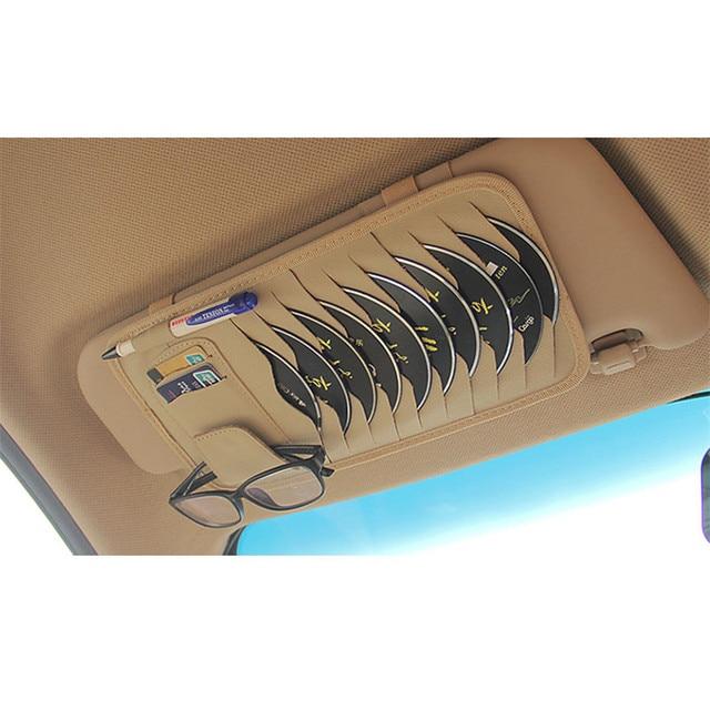 Car eyeglasses holder cd clip sunglasses case box auto sun visor discs glasses box set 1pc