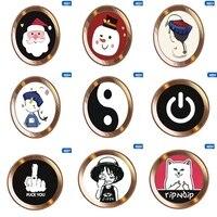 1pcs Cartoon cute Touch ID Home Button Sticker For iPhone5 5S 6S 7 8 Plus For Ipad air 2 mini Fingerprint Identification Keypad