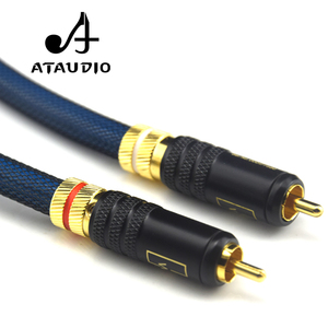 Image 5 - ATAUDIO 1 Pair Rca Cable G5 Top Grade Silver Plated RCA Male to Male Cable