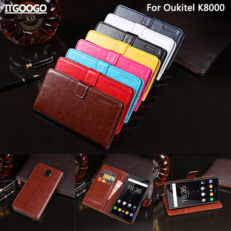 Itgoogo For Oukitel K8000 Case Cover 5.5 Hight Quality Flip Leather Case For Oukitel K8000 Cover Phone bag Wallet Case