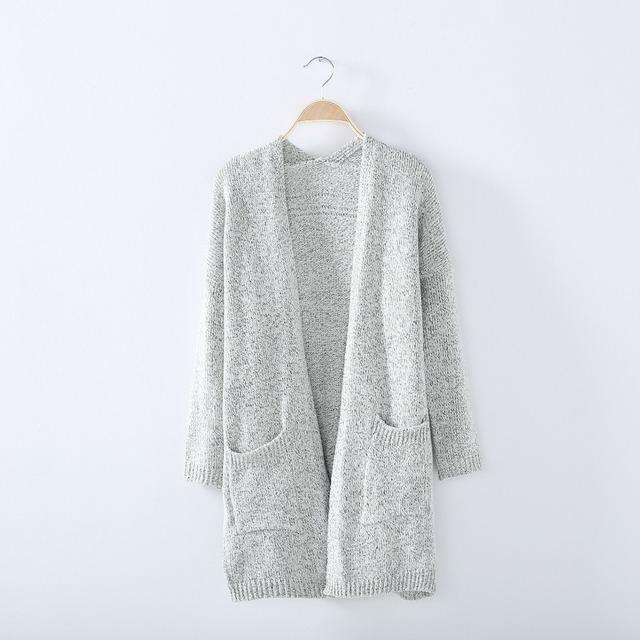 2017 Autumn Winter Fashion Women Long Sleeve loose knitting cardigan sweater Womens Knitted Female Cardigan pull femme