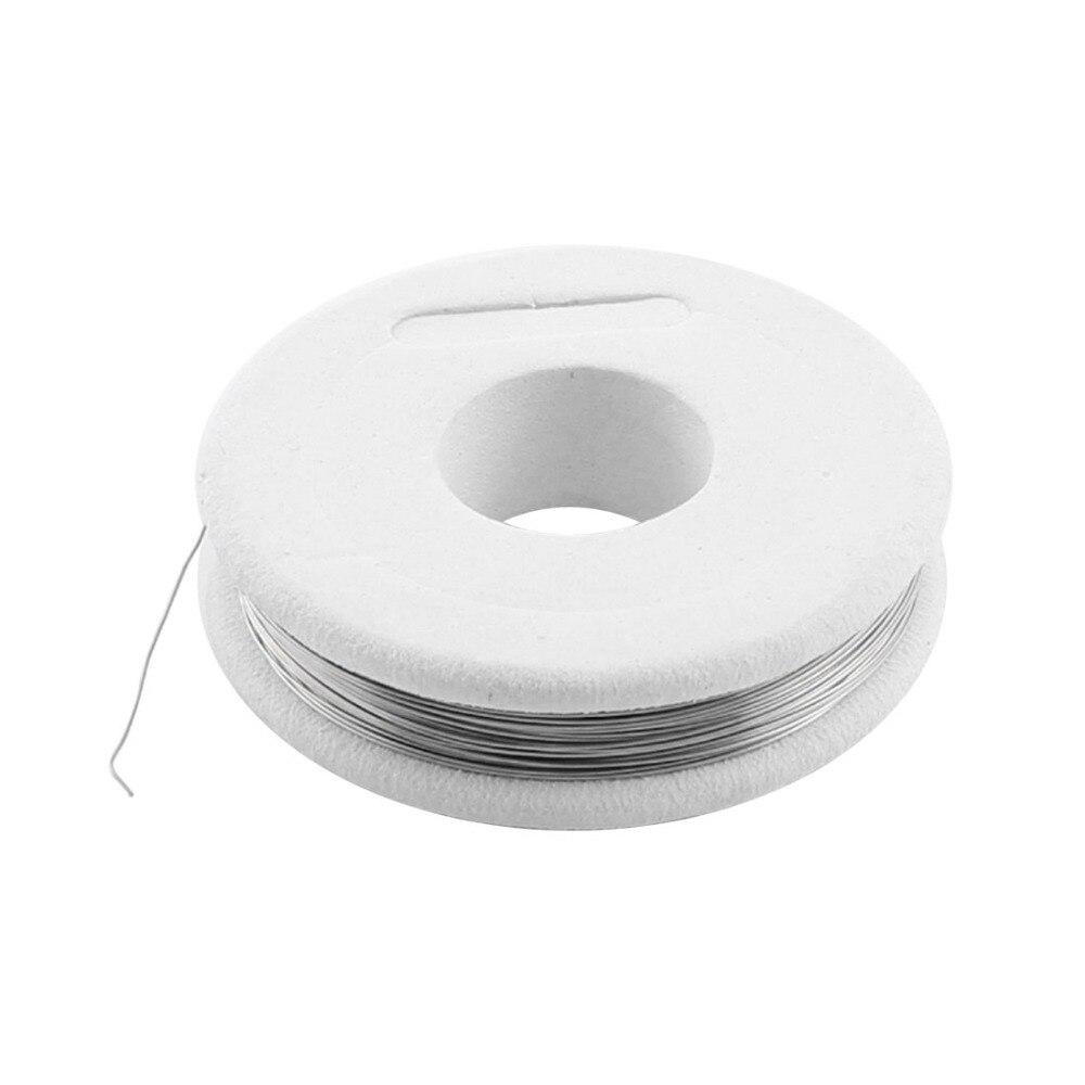 UXCELL 7,5 метра 25 футов Длина 0,25 мм диаметр кабеля AWG30 датчик нихрома сопротивление резистор провода Серебряный тон для подогревателя холодиль...
