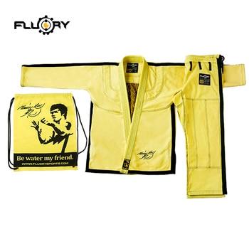 Fluory bjj gi kimonos bruce lee ropa de artes marciales jiu-jitsu brasileño kimonos