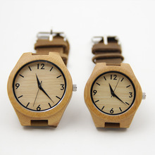 Bamboo Watches For Men and Women Gift Brand Wood Watch Fashion And Famous Lover With Gift Box