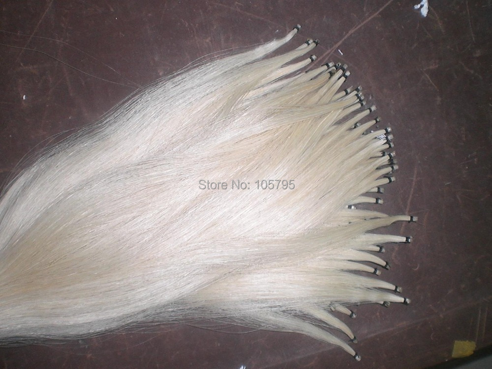 6 Hanks Best Quality 81cm unbleached Siberia White Stallion Bow hair horse hair