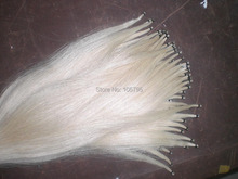 6 Hanks Best Quality 81cm unbleached Siberia White Stallion Bow hair font b horse b font