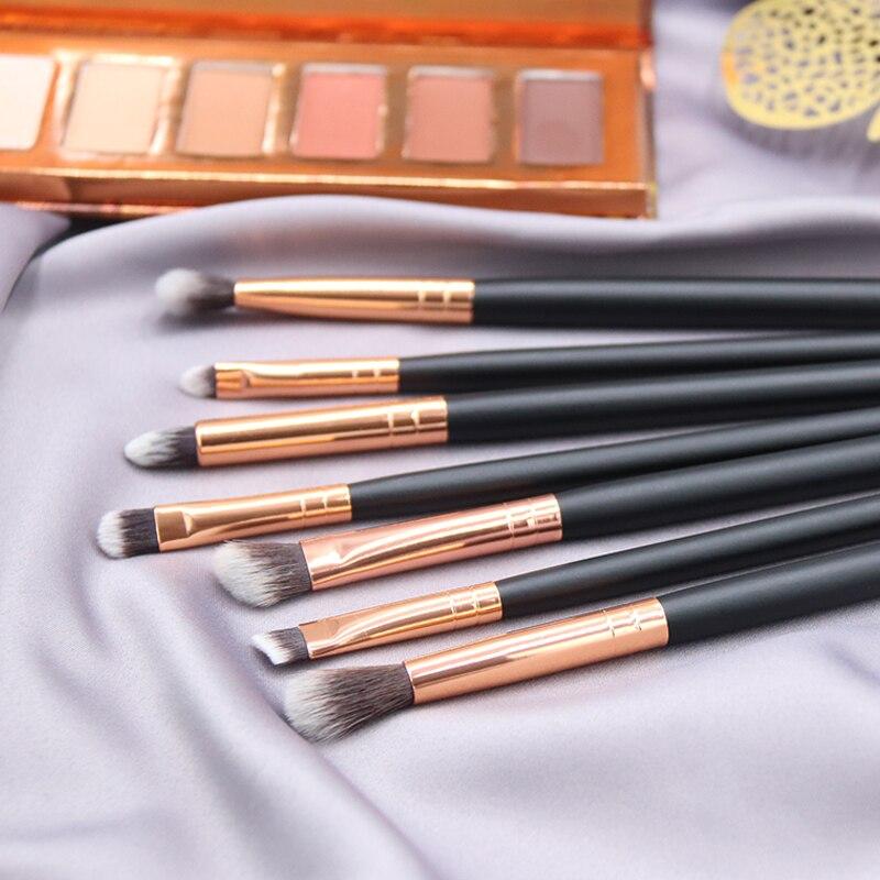 BBL 7 Essential Makeup Eye Brush Set - Eyeshadow Eyelash Eyeliner Tapered Blending Crease Kit Make Up Brushes Pincel Maquiagem 1