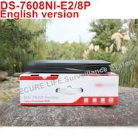 In Stock DS 7608NI E2 8P English Version 8ch NVR With 2SATA 8 POE Ports HDMI