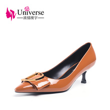 patent leather women dress shoes Universe thin high heel ladies pointed toe office  J018