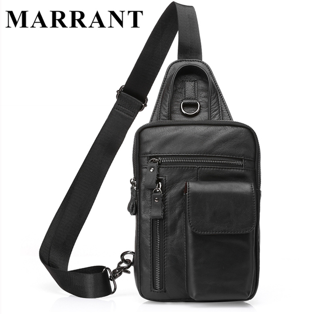 MARRANT Shoulder Crossbody Bags Genuine Leather Men Bag Men Waist Belt Bag Fashion Small  Male Fanny Waist Packs Bags