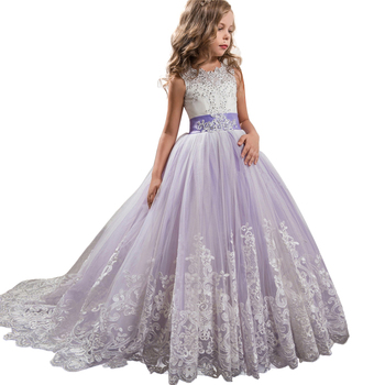 b1a1bb9de6 Nuevo 2019 trajes de Carnaval flor dama de honor vestido de fiesta vestido  de boda para niñas niños ropa larga vestido de princesa elegante
