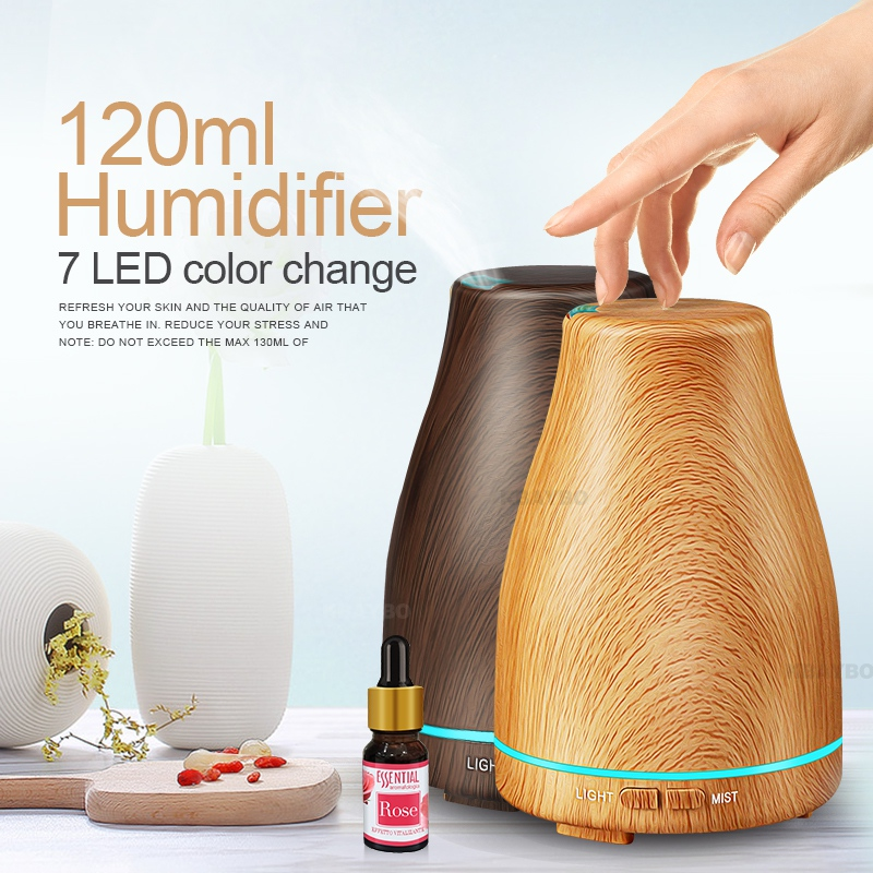 ejoai 2018 Ultrasonic Air Humidifier Essential Oil Diffuser Aroma Lamp Aromatherapy Electric Aroma Diffuser Mist Maker for Home