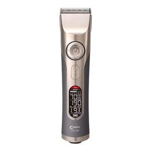 Image 4 - Cortadora de pelo profesional recargable para peluquero LCD, maquinilla eléctrica para cortar el pelo, cortador de titanio, boquillas de Máquina para cortar cabello de 3 25mm