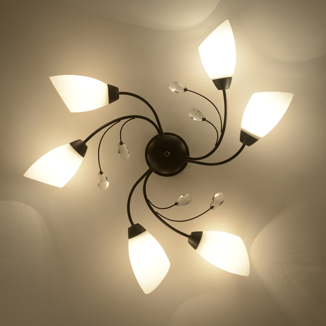 Iron Surface mounted ceiling lighting american style 4/6/8 heads ...