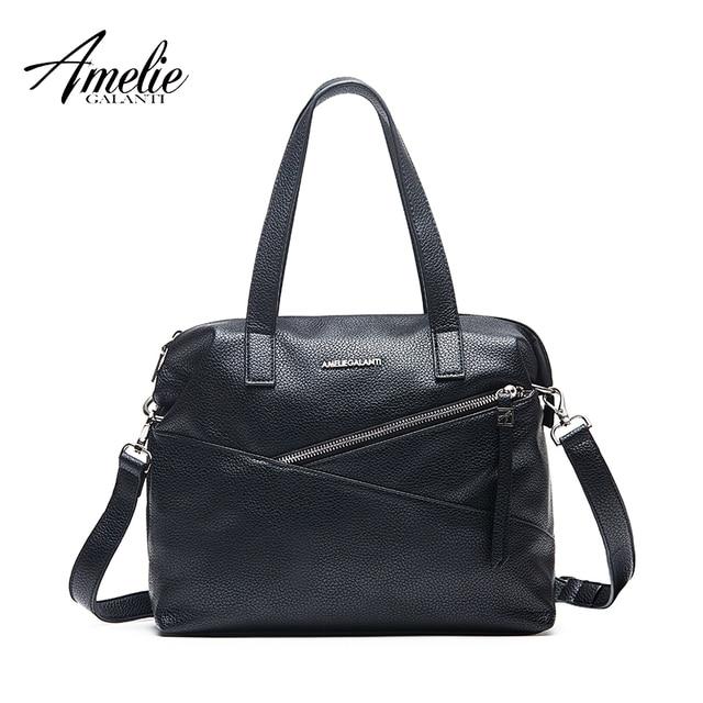 AMELIE GALANTI модная женская сумка через плечо классическая женская сумка повседневная сумка с мягким клапаном с внутренним сотовым телефоном карманы на молнии