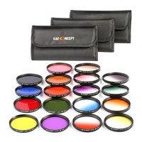 18pcs/set Camera Filters Colorful Protecting Lens Filter For Canon Nikon SLR DSLR 58mm