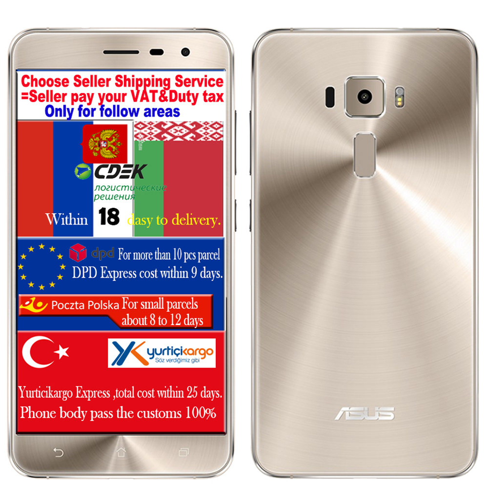 "Original ASUS Zenfone 3 ZE552KL Qualcomm snapdragon 625 Octa core 4GB RAM 64G ROM 5.5"" 1920*1080 Android M 6.0 mobile cell phone"