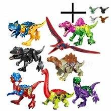 Jurassic Dinosaur World Park Fallen Kingdom Carnotaurus & Interbreed Velociraptor T-Rex Movies Dinosaurs Blocks