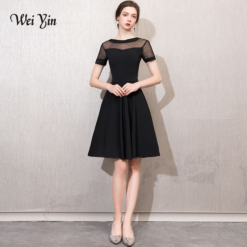 weiyin   Cocktail     Dresses   2018 Sexy Prom   Dresses   elegant Women Party   Dress   Cheap Above Knee Mini Robe De   Cocktail   Gowns WY753