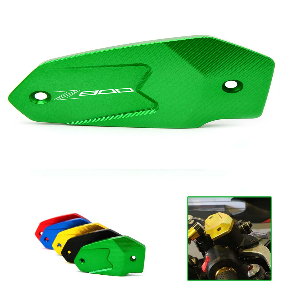 Hot Sale Motorcycle Accessories Front Brake Fluid Reservoir Cap green cover For Kawasaki Z800 Z 800 2013 2014 2015 universal motorcycle brake fluid reservoir clutch tank oil fluid cup for kawasaki z800 z 800 er6n z750 z1000 2013 2014 2015 2016