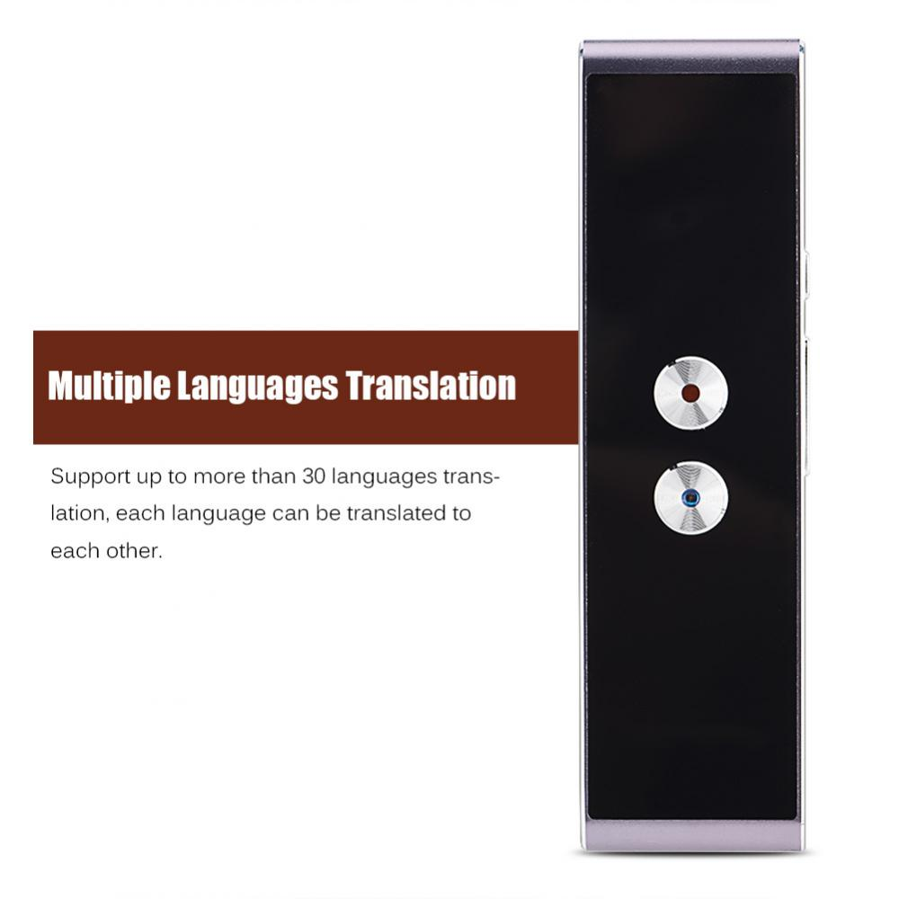 Portable Smart Bidirectionnelle En Temps Réel Multi-Langue Traducteur Vocal pour L'apprentissage Voyage Réunion