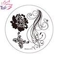 Mariposa de la flor Nail Art Stamping imagen placas 6 diseño polacas sello estampado de plantilla de acero inoxidable plantillas para uñas JH235