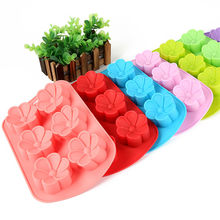 1 PC Flores Handmade Soap Moldes de Silicone Muffin Cups Biscoito Bolo de Chocolate Ice Mold Baking Bolo(China)