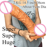 14.56 370mm Extreme Big Realistic Dildo Super Thick Huge Big Dildo Penis Dick Dong Women Sex Toy sex product