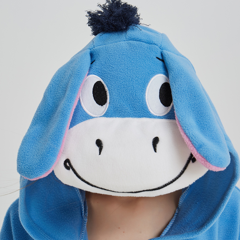 Halloween Cosplay Adult Anime Animal Eeyore Donkey Pajamas One Piece Unisex Onesie Party Costumes Sleepwear Jumpsuit (1)