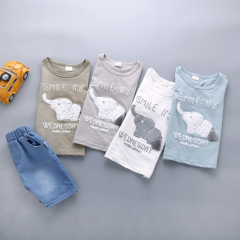 5dd5d9159df6 BibiCola Summer Baby Boy Clothes Sets Newborn Baby Cotton T shirt ...