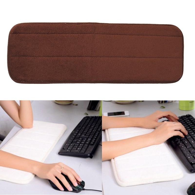 лучшая цена Soft Computer Wrist Pad Mats Rest Support Memory Comfort Keyboard Hand Pad Mousepad Cushion For Raised Platform Hands