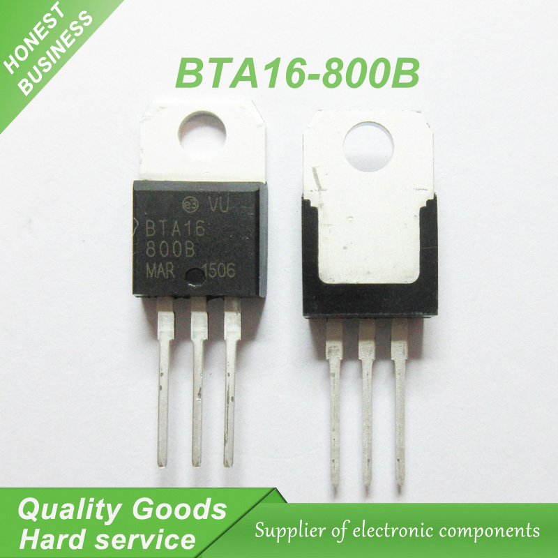 10pcs BTA16-800B BTA16-<font><b>800</b></font> BTA16 Triacs <font><b>16</b></font> Amp <font><b>800</b></font> Volt TO-220 new original image