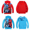 Spring/Autumn Cool Batman Spider man Kids Boys Sweatshirt Cotton Hoodies Sportswear Tops 3-8Y Clothing