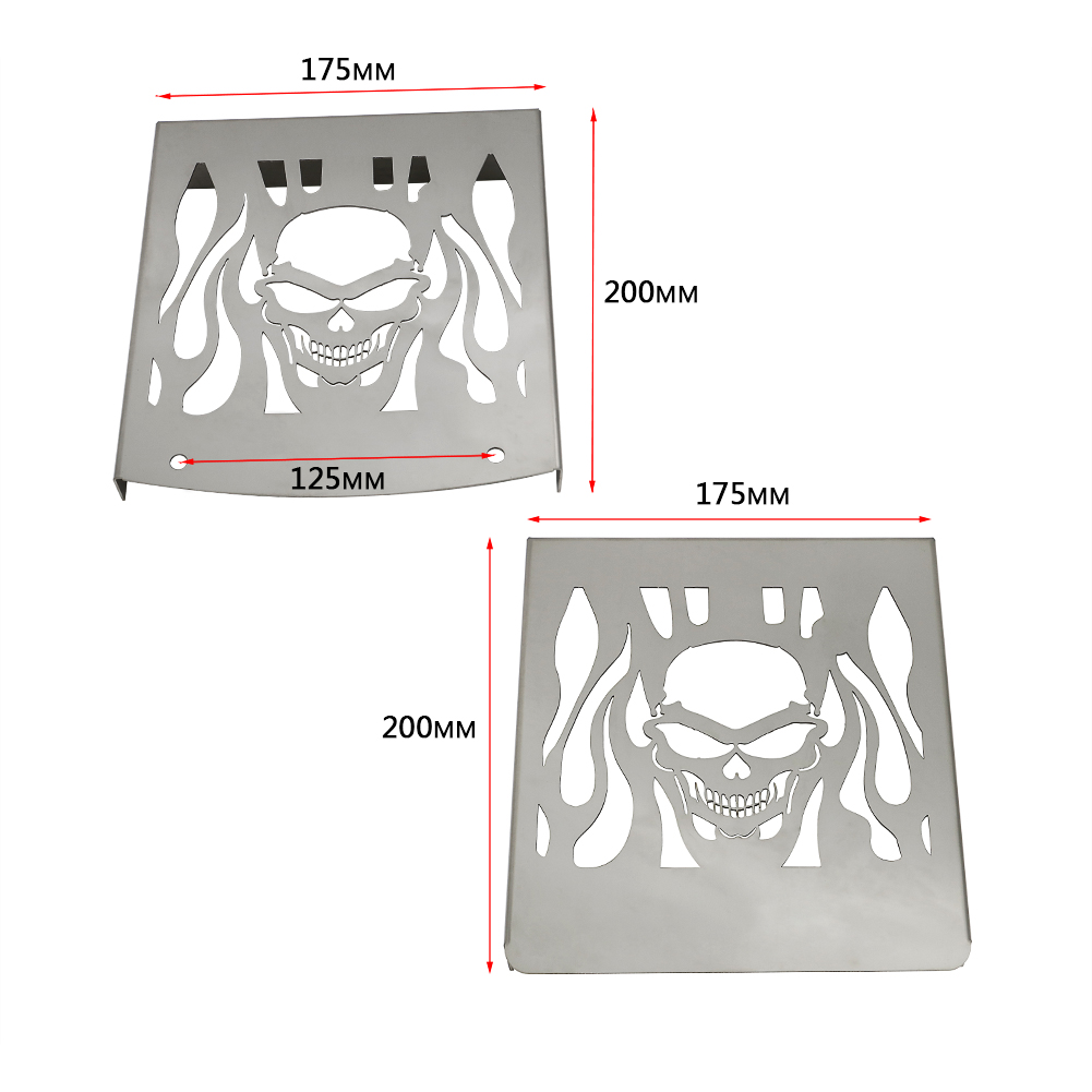 Motorcycle Accessories Stainless Steel 200 175 Radiator Grill Grille Cover For Suzuki VL1500 1500 LC Intruder