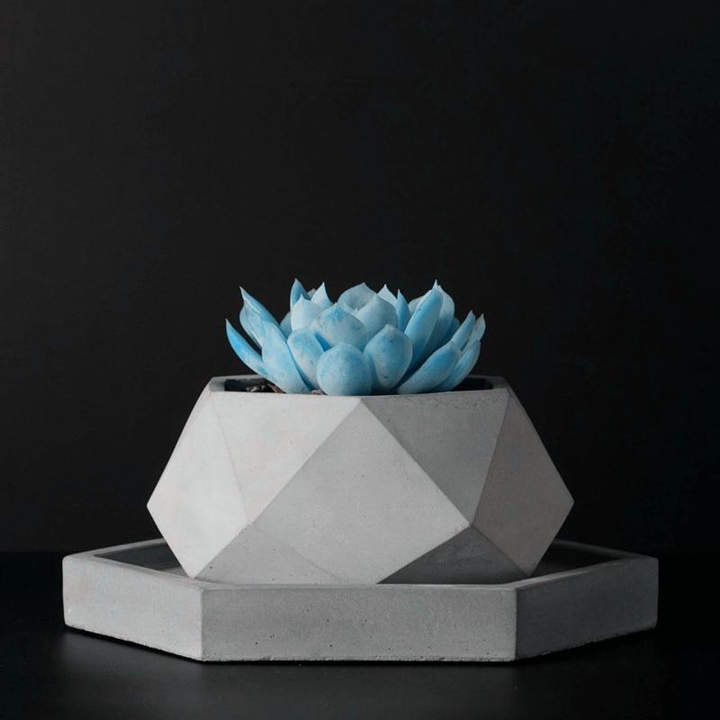 Grande molde de cimento handamde silicone flowerpot