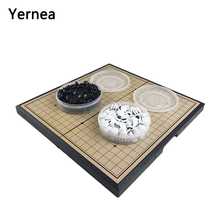 Yernea New Acrylic Go Game Christmas Present Foldable Board Birthday For Chess Box Travel Portable Magnetic