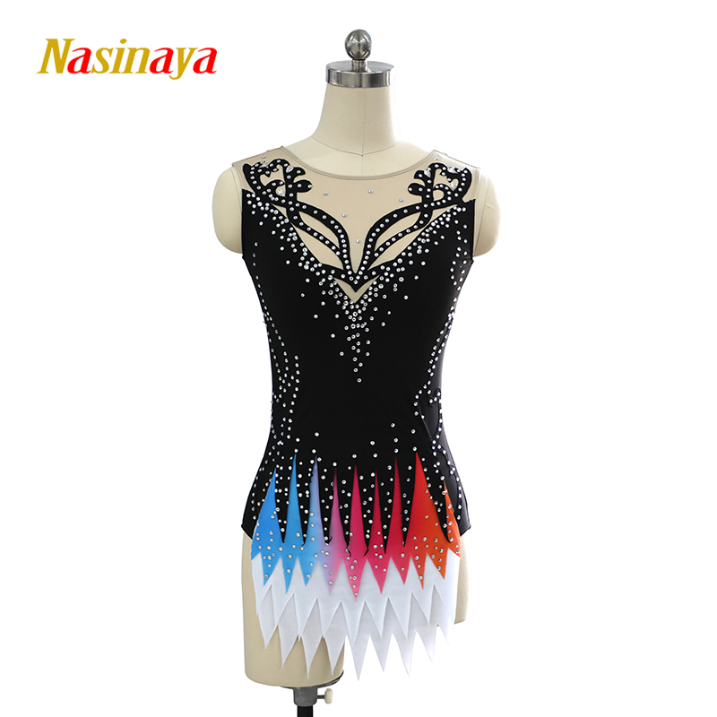 Customized Rhythmic Gymnastic Dress Leotards Dance Costume Bodysuit Aerobics Sports Wear Training Performance Child Adult Girl